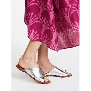 Diane Von Furstenberg bailie silver slide size 6.5